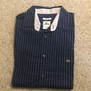 Lacoste Modern Fit Button Front Shirt Plaid 40